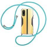 mtb more energy® Collar Smartphone Compatible con Xiaomi Poco F3 GT, Redmi K40 Gaming (6.67'') - Turquesa - Funda Protectora ponible - Carcasa Anti Shock con Cuerda Correa