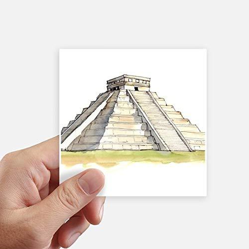 DIYthinker El Castillo In Mesoamericaanse Vierkante Stickers 10Cm Muur koffer Laptop Motobike Decal 8 Stks