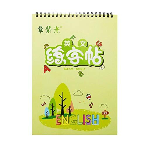 Niños Groove Copybook Estudiante Magia Escritura Pegatinas Preescolar Niños Pluma dura Caligrafía Junta de Práctica