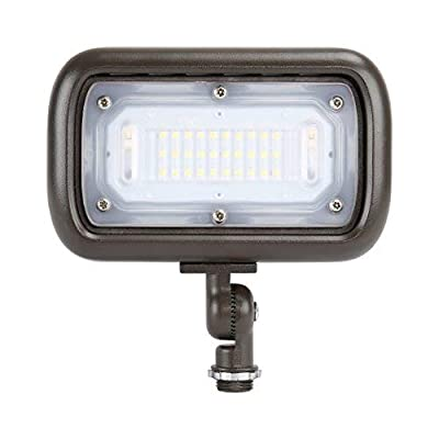 "GKOLED 30W LED Floodlight, Outdoor Security Fixture, Waterproof, 100W PSMH Replace, 3000 Lumens, 5000K Daylight White, 70CRI, 1/2"" Adjustable Knuckle Mount, UL-Listed & DLC-Qualified, 5 Years Warranty"