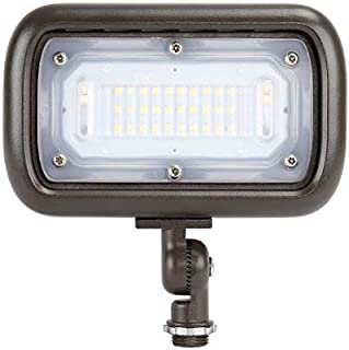 """GKOLED 30W LED Floodlight, Outdoor Security Fixture, Waterproof, 100W PSMH Replace, 2700 Lumens, 3000K Warm White, 70CRI, 120-277V, 1/2"""" Adjustable Knuckle Mount, UL-Listed, 5 Years Warranty"""