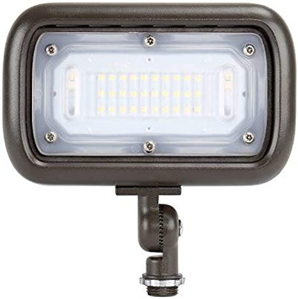 GKOLED 30W LED Floodlight Outdoor Security Fixture Waterproof 100W PSMH Replace 2700 Lumens 3000K Warm White 70CRI 120 277V 1 2 Adjustable Knuckle Mount UL Listed 5 Years Warranty