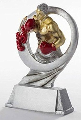RaRu Boxer-Pokal Resin-Figur mit Wunschgravur