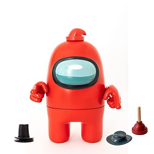Bizak-  Among Us Mega Figura Pack 1 en Caja Rojo (64116500),  Multicolor