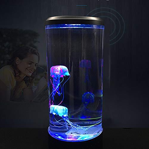 BSFYUK Luz Noche.Tanque Acuario Luces Led Relajante LáMpara Estado áNimo Noche Aquarium Jellyfish Creative Simulation Colorido Mood Night Lamp Aplicar Sala Exposiciones Habitaciones Hotel
