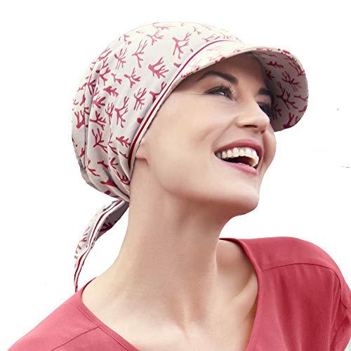 Lampone Rosso Christine headwear Cappello con Visiera e Protezione Solare 50 UV