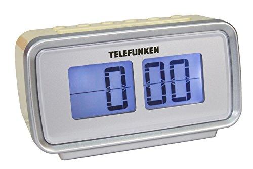 Telefunken R1002 Radiowecker (UKW-Radio, PLL-Tuner, Dual Alarm, Sleep-Timer, LCD-Anzeige) creme