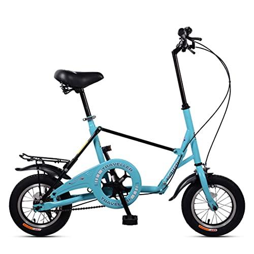 JINDAO Bicicleta plegable de una sola velocidad con estante, altura del asiento...