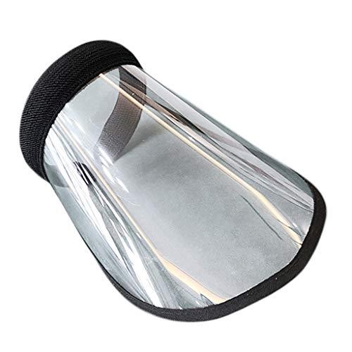 Sharplace Cappello di Protezione UV Da Uomo Cappellino Trasparente per Visiera Da Ciclismo per Il Campeggio Anti Uv, Vento E Polvere - Nero, Taglia unica
