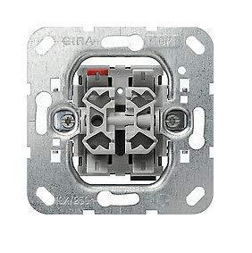 GIRA System 55 Standard E2, Reinweiß glänzend, Steckdose Schalter Rahmen Wippe (015800 Wipp-Jalousietaster, 1 Stück)
