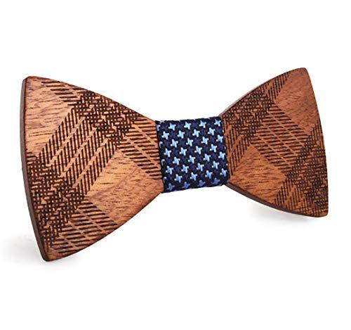 Gaira Pajarita corbatin de madera hecha a mano ajustable tendencia clasica para bodas y fiestas elegantes Regalo para hombres
