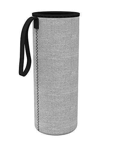 spottle® Neoprenhülle für Glasflachen in 550, 750 und 950ml - Hergestellt aus umweltfreundlichem Neopren (Grau, 750ml)