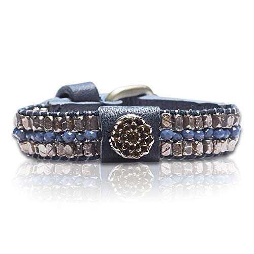 Noosa Petite Armband ohne Chunk Raw Romance healing jean (blau), Größe:S
