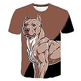 Manga Corta De Verano Cuello Redondo Camiseta Adecuado para Su Perro Mascota Ropa Informal 3D Print tee para Adultos O Niños H-M