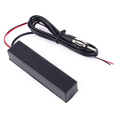 Nimoa Auto-FM-radioantenne, 12 V, auto, motorfiets, stereo, radio, elektronische verborgen antenne, FM AM Amplified AP