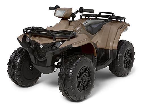 Kid Trax Yamaha ATV Toddler/Kids Electric Ride On Toy, 12 Volt, 3-7 yrs Old, Max Weight 130 lbs, Single or Double Riders, MP3 Player Input, Kodiak Tan (KT1579)