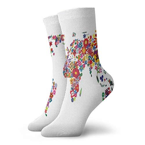 Chaussettes courtes douces longueur mollet avec pétales de fleurs - Parfum dessence - Thème de la croissance du jardin - Image de lAtlas - Chaussett