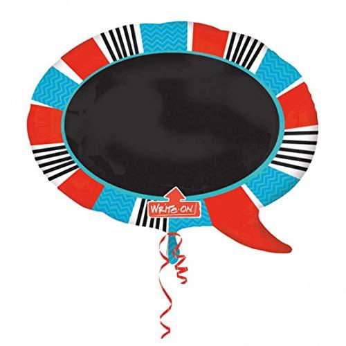 Balloonarama - Write on Balloon - XXL Folienballon zum selbst beschriften - Las Vegas Motiv - 78x71cm - Geschenkideen zum Geburtstag Valentinstag Hochzeit, Party Dekoration, Mehrfarbig