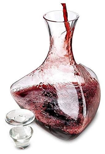 HAOKTSB Juego de decantadores de Vino Tinto y Jarra de Vino, fijador de vinos de Cristal Gifts, Accesorios de Vino Decantador de Whisky