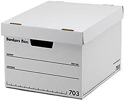 フェローズ バンカーズボックス 新703S A4サイズ 黒 3枚1セット 収納ボックス ふた付き 1005901