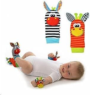 Romote linda del bebé infantil para niños de pie Calcetines Sonajeros Juguetes Buscadores Guante developmenta