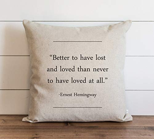 Book Collection Ernest Hemmingway Pillow Cover Everyday Throw Pillow Gift Accent Pillow Cushion Cover Case Pillowcase with Hidden Zipper Closure For Sofa Home Decor 20 x 20 Inches