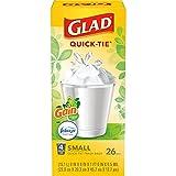 Glad Trash & Food Storage OdorShield Small Trash Bags, Gain Original & Febreze, 4 Gal, 26 Ct - Pack of 6 (Package May Vary) (COMINHKG128835)
