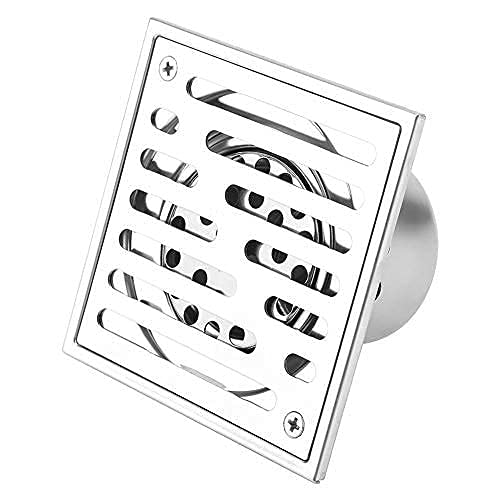Afvoerputje Rvs Vierkante Anti-geur Badkamer Afval Gate Douche Afdruiprek met Groot Kaliber (110 * 110mm)