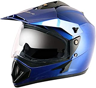 Vega Off Road OR-D/V-MB_M Full Face Helmet (Metallic Blue, M)