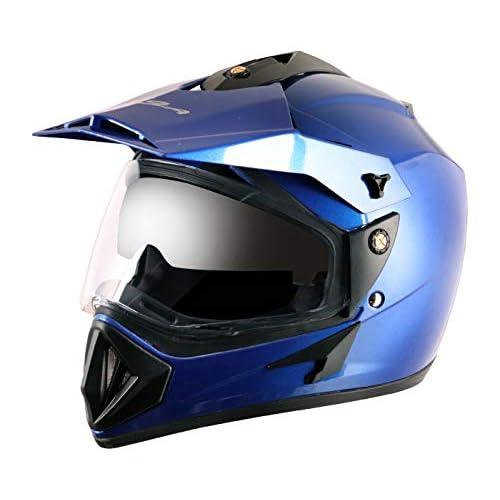 Vega Off Road OR-D/V-MB_L Full Face Helmet (Metallic Blue, L)