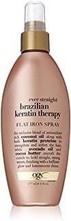 OGX Organix Ever Straight Brazilian Keratin Therapy Flat Iron Spray, 6 Ounce - by Organix
