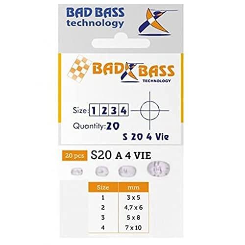 Bad Bass D3200278, S20 4-Wege-Sockel 33009 Unisex Erwachsene, transparent, 4,7 x 6 mm