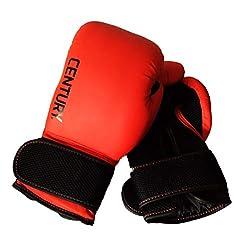 commercial Men's Boxing Gloves Century Training 14oz (Red / Black) boxing gloves century