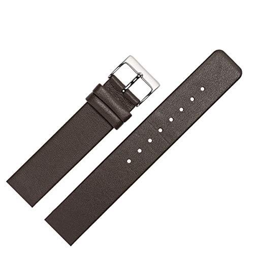 MARBURGER Uhrenarmband 22mm Leder Braun Spezialanstoss Verschraubt - 7622231000120