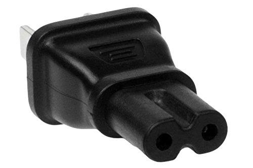 SF Cable, 2 Prong Power Plug Adapter,USA IEC 60320-C7 Receptacle to NEMA 1-15P