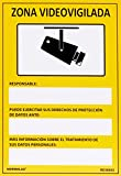 Normaluz RD30042 Señal Zona Videovigilada PVC Glasspack 0,7 mm 21x30 cm,...