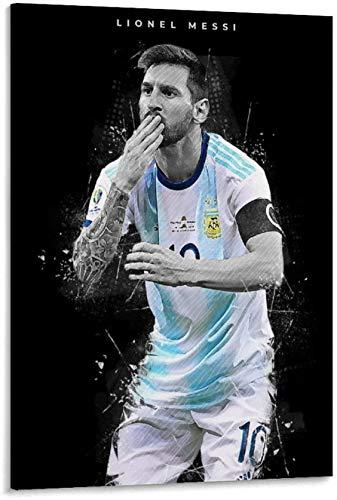 Lienzos De Fotos 60x80cm Sin Marco Lionel Messi, el mejor jugador de fútbol de todos los tiempos, equipo de Argentina, arte de pared, póster impreso, lienzo, pintura, arte, módem, decoración, carteles