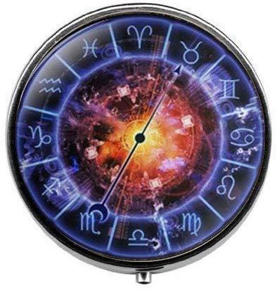 Blue Sign Horoscope Jewelry - Pastillero de cristal con signo del zodiaco