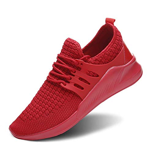 Wander G Men's Women's Slip on Sneakers Fashion Lightweight Running Shoes Casual Athletic Shoes for Walking (41,Red)