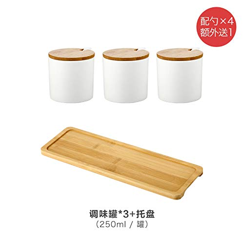 SGAN Cucina di casa Condimento in Ceramica Bottiglia di Olio Bottiglia di Olio Shaker di Sale Ciotola di Zucchero Condimento Scatola di Zucchero salato Set,A11