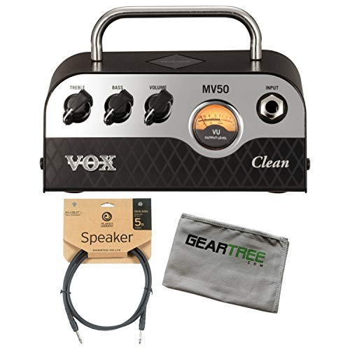 Lowest Prices! Vox MV50 50w Clean Head w/Cleaning Cloth and Speaker Cable