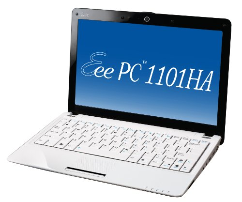 Asus Eee PC 1101HA 29,5 cm (11,6 Zoll) Netbook (Intel Atom Z520 1.3GHz, 2GB RAM, 250GB HDD, Intel GMA 500, Win 7 Home Premium) weiß