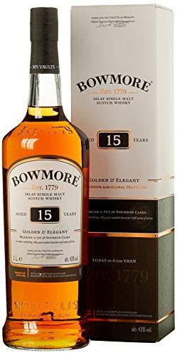 Bowmore 15 Years Old Golden & Elegant Whisky mit Geschenkverpackung (1 x 1 l)