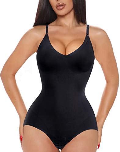 Ursexyly Women Waist Trainer Shapewear Tummy Control Fajas Colombianas Body Shaper Sexy V Neck product image