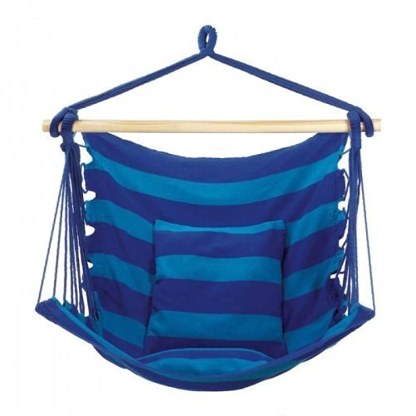 Hammock Swing Chair - 48 Inches Hanging Rope Chair Porch Swing Outdoor Chair Lounge Camp Seat At Patio Lawn Garden Backyard Beach Blue