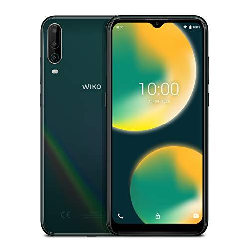WIKO VIEW4 Smartphone, 5000 mAh Akku, 6,52 Zoll (16,5 cm), Dreifach-Kamera, 64GB + 3GB, Dual-SIM, Android 10, Cosmic Green