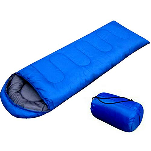 Bestdeal.shop Bag Sleeping Ultralight Camping Outdoor Hiking Waterproof Single Envelope Adult with Carrying Bag Blue Color