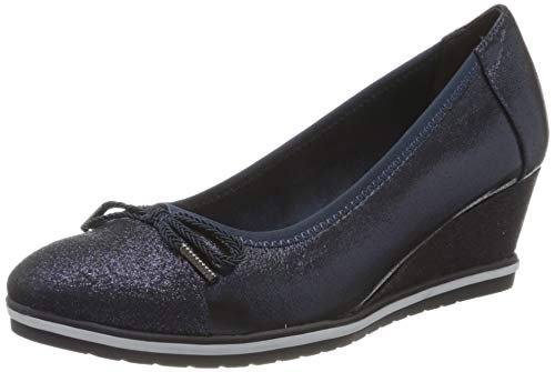 Tamaris Damen 1-1-22461-24 Pumps, Blau (Navy Comb 890), 37 EU