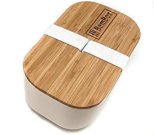 BamBox Bamboo Lunch Box/Bento Box | Eco Friendly Food Container Made from Sustainable Bamboo | Perfect for Lunch on The Go | 1100 ML
