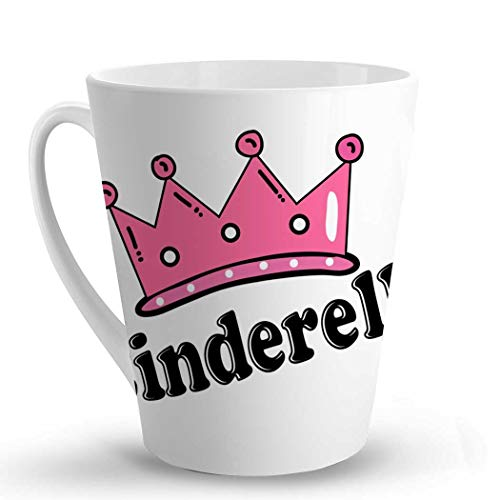 Makoroni - Cinderella Female Name - 12 Oz. Unique LATTE MUG, Coffee Cup